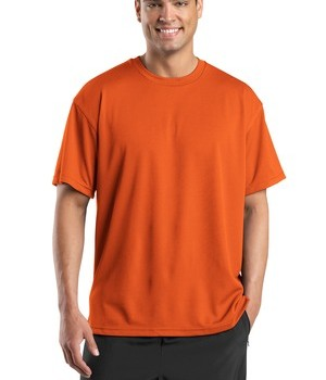 Sport-Tek K468 Dri-Mesh Short Sleeve T-Shirt Bright Orange