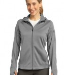 Sport-Tek L248 Ladies Tech Fleece Full-Zip Hooded Jacket Grey Heather