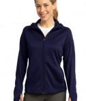 Sport-Tek L248 Ladies Tech Fleece Full-Zip Hooded Jacket True Navy
