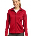 Sport-Tek L248 Ladies Tech Fleece Full-Zip Hooded Jacket True Red
