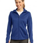Sport-Tek L248 Ladies Tech Fleece Full-Zip Hooded Jacket True Royal