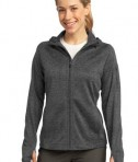 Sport-Tek L248 Ladies Tech Fleece Full-Zip Hooded Jacket Graphite Heather