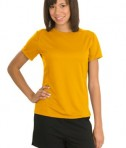 Sport-Tek L473 Ladies Dry Zone Raglan Accent T-Shirt Gold