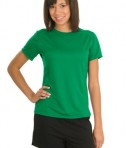 Sport-Tek L473 Ladies Dry Zone Raglan Accent T-Shirt Kelly Green