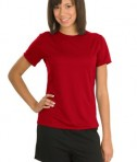 Sport-Tek L473 Ladies Dry Zone Raglan Accent T-Shirt True Red
