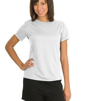 Sport-Tek L473 Ladies Dry Zone Raglan Accent T-Shirt White