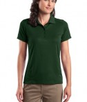 Sport-Tek L475 Ladies Dry Zone Raglan Accent Polo Forest Green