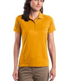 Sport-Tek L475 Ladies Dry Zone Raglan Accent Polo Gold