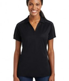 Sport-Tek Ladies Micropique Sport-Wick Piped Polo Style LST653