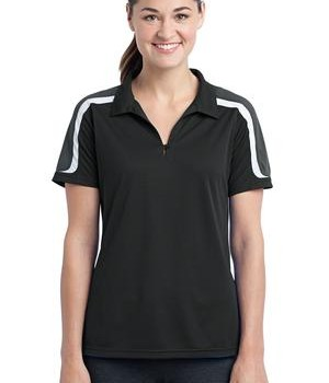 Sport-Tek Ladies Tricolor Shoulder Micropique Sport-Wick Polo Style LST658 1