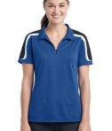 Sport-Tek Ladies Tricolor Shoulder Micropique Sport-Wick Polo Style LST658