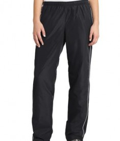 Sport-Tek LPST61 Ladies Piped Wind Pant Black/White