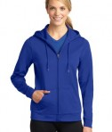 Sport-Tek LST238 Ladies Sport-Wick Fleece Full-Zip Hooded Jacket True Royal