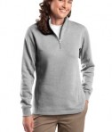 Sport-Tek LST253 Ladies 1/4-Zip Sweatshirt Athletic Heather