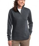Sport-Tek LST253 Ladies 1/4-Zip Sweatshirt Graphite Heather