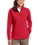 Sport-Tek LST253 Ladies 1/4-Zip Sweatshirt True Red