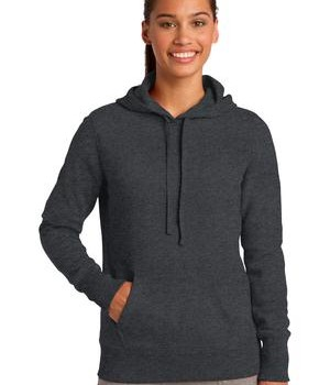 Sport-Tek LST254 Ladies Pullover Hooded Sweatshirt Graphite Heather
