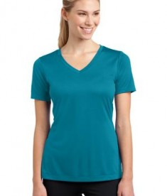 Sport-Tek LST353 Ladies V-Neck PosiCharge Competitor Tee Tropic Blue