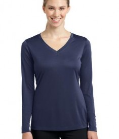 Sport-Tek LST353LS Ladies Long Sleeve V-Neck PosiCharge Competitor Tee True Navy