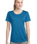Sport-Tek LST360 Ladies Heather Contender Scoop Neck Tee Blue Wake Heather