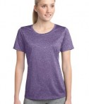 Sport-Tek LST360 Ladies Heather Contender Scoop Neck Tee Purple Heather