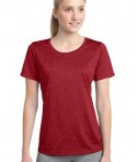 Sport-Tek LST360 Ladies Heather Contender Scoop Neck Tee Scarlet Heather