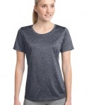 Sport-Tek LST360 Ladies Heather Contender Scoop Neck Tee True Navy Heather