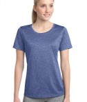 Sport-Tek LST360 Ladies Heather Contender Scoop Neck Tee True Royal Heather