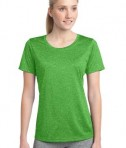Sport-Tek LST360 Ladies Heather Contender Scoop Neck Tee Turf Green Heather