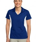 Sport-Tek LST655 Ladies Side Blocked Micropique Sport-Wick Polo True Royal/White