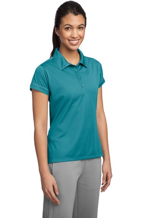 Sport-Tek LST659 Ladies Contrast Stitch Micropique Sport-Wick Polo Tropic Blue