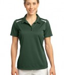 Sport-Tek LST670 Ladies Vector Sport-Wick Polo Forest Green/White