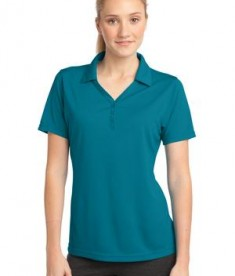 Sport-Tek LST680 Ladies PosiCharge Micro-Mesh Polo Blue Wake