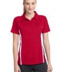Sport-Tek LST685 Ladies PosiCharge Micro-Mesh Colorblock Polo True Red/White