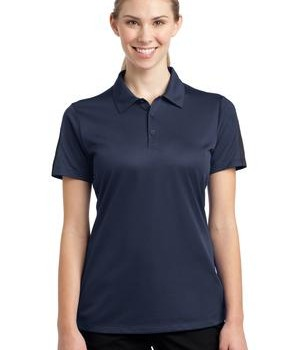 Sport-Tek LST695 Ladies PosiCharge Active Textured Colorblock Polo True Navy/Grey