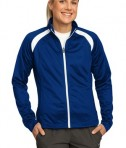 Sport-Tek LST90 Ladies Tricot Track Jacket True Royal/White
