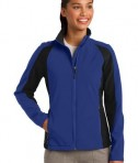 Sport-Tek LST970 Ladies Colorblock Soft Shell Jacket True Royal/Black