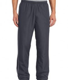 Sport-Tek PST61 Piped Wind Pant Graphite Grey/White