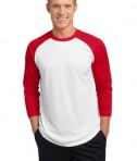 Sport-Tek ST205 PosiCharge Baseball Jersey White/True Red