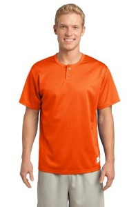 Sport-Tek ST215 PosiCharge Tough Mesh Henley Deep Orange