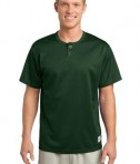 Sport-Tek ST215 PosiCharge Tough Mesh Henley Forest Green