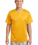 Sport-Tek ST215 PosiCharge Tough Mesh Henley Gold