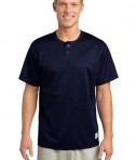 Sport-Tek ST215 PosiCharge Tough Mesh Henley True Navy
