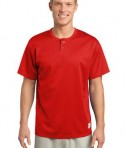 Sport-Tek ST215 PosiCharge Tough Mesh Henley True Red