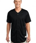 Sport-Tek ST220 PosiCharge Tough Mesh Full-Button Jersey Black