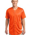 Sport-Tek ST220 PosiCharge Tough Mesh Full-Button Jersey Deep Orange