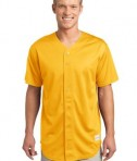 Sport-Tek ST220 PosiCharge Tough Mesh Full-Button Jersey Gold