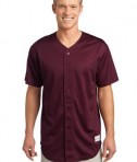 Sport-Tek ST220 PosiCharge Tough Mesh Full-Button Jersey Maroon