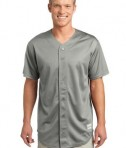 Sport-Tek ST220 PosiCharge Tough Mesh Full-Button Jersey Silver