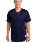 Sport-Tek ST220 PosiCharge Tough Mesh Full-Button Jersey True Navy